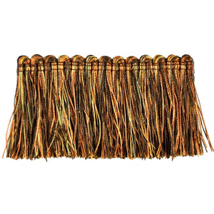 "Elegance Collection 2"" Brush Fringe - Rust and Brown"
