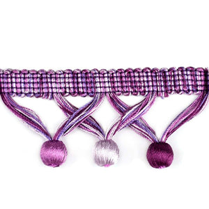 "Elegance Collection 1 3/4"" Ball Fringe - Lilac and Purple"
