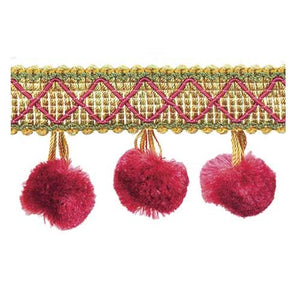 "Mulberry Collection-2"" length-SILK POM POM FRINGE-BF-4006-80/61"
