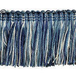 "Fairville Collection 2"" Brush Fringe (25 YD ROLL) in Light Blue/Navy - BF-4020-03-05"
