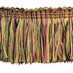 "Fairville Collection 2"" Brush Fringe (25 YD ROLL) in Moss Green/Black - BF-4020-63-02"