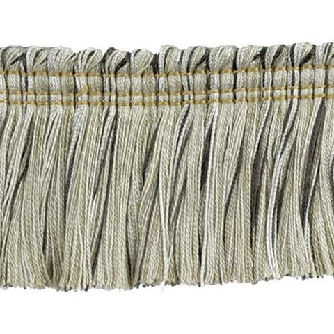 "Godiva Collection 2"" Brush Fringe (25 YD ROLL) in Beige/Chocolate - BF-4097-28/66"