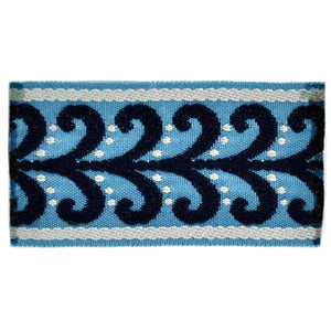 "Elegance Collection 2"" Braid - Navy and Light Blue"