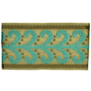 "Elegance Collection 2"" Braid - Turquoise and Sable"