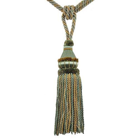 "Mulberry Collection-12"" Length-SINGLE TASSEL TIEBACK--BT-6002-33/82"