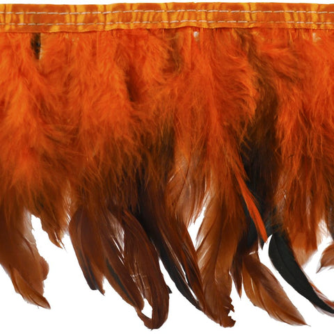 10 YDS - Feather Trim 9 Inch Long in Orange - B-1135-19