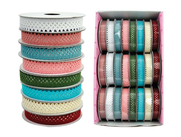 BAB-2 Boxed Ribbon Lace Assorted