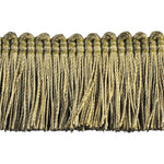 "Basics Collection 1 1/2"" Brush Fringe (25 YD ROLL) in Moss Green - BF-4900-63."