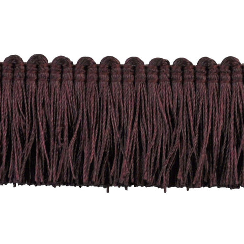 "Basics Collection 1 1/2"" Brush Fringe (25 YD ROLL) in Eggplant - BF-4900-70."