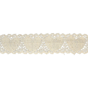 "Cotton Cluny Lace- 1 1/2"" wide-BFC-501- Ivory"