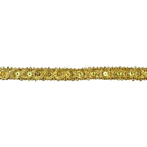 "25 YDS - Metallic Braid Trim - 1/2"" wide -BG-2006-10"