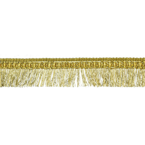 "25 YDS - Metallic Fringe Trim - 3/4"" wide -BG-2009-10"