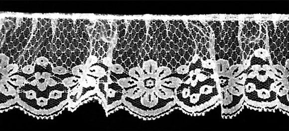 White Gathered Lace- 2 1/2