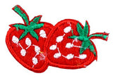 Assorted Applique Strawberries, Red - 12pc Pack BM-5517