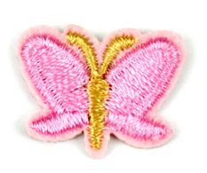 Assorted Applique Small Pink Butterfly - 12pc Pack BM-5520