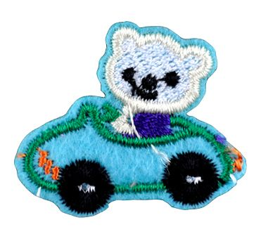 Assorted Applique (Teddy in a Car) BM-5521