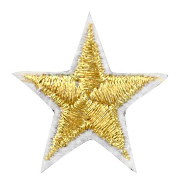 Assorted Applique Small Gold Star - 12pc Pack BM-5535