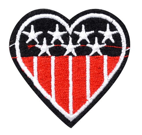 Assorted Applique (Heart with Stars and Stripes) BM-5543
