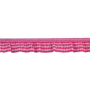 "Elastic Banding-3/4"" wide-Stretch Gathered Gingham -BF-1700-42"