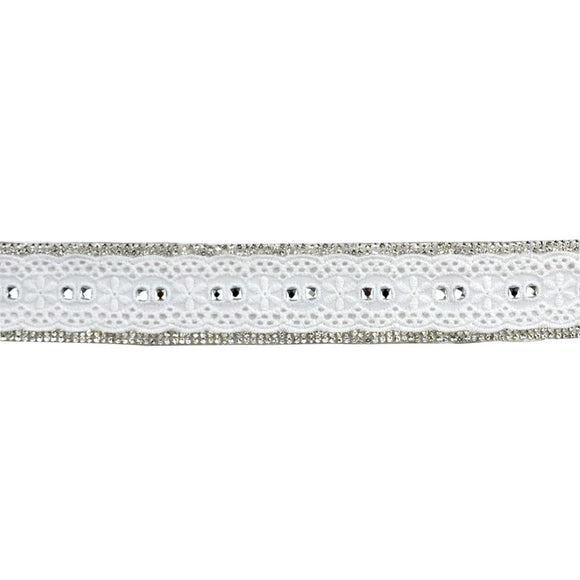 Iron-On Trim with Rhinestone and Eyelet BR-7554-1