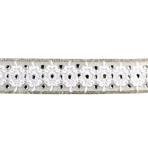 Iron-On Trim with Rhinestone and Eyelet BR-7555-1
