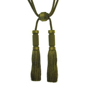 "Sophisticated Elegance-10 1/2"" length- Double Tassel Tieback-BT-6000-36"