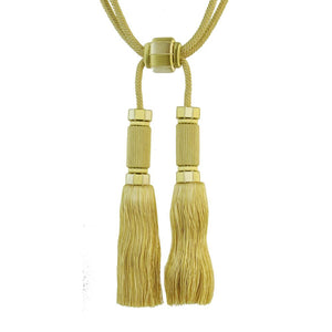 "Sophisticated Elegance-10 1/2"" length- Double Tassel Tieback-BT-6000-61"