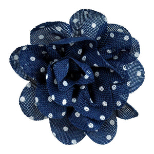 "Polka Dot Flower Clip-on-- 5 1/2"" wide - BU-302-04"