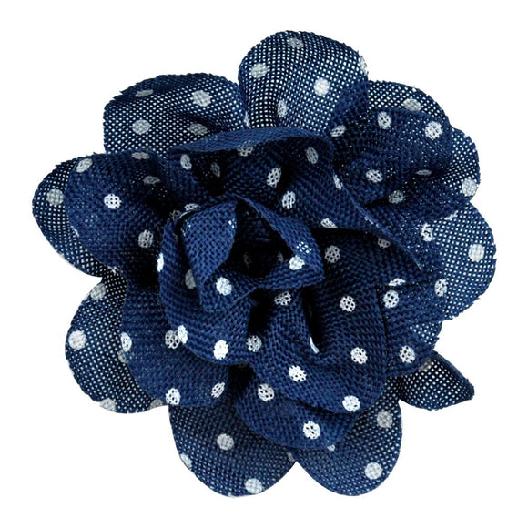 Polka Dot Flower Clip-on-- 5 1/2