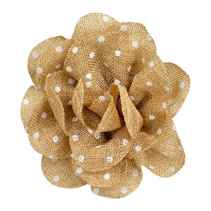 "Polka Dot Flower Clip-on-- 5 1/2"" wide -BU-302-28"