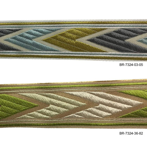"Woven Chevron Tapes - 1 1/4"" wide - BR-7324"