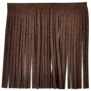 "Suede Fringe 4"" (Brown) P-7771-06"