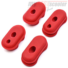 Red Rubber Cable Cover Cap Set