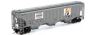 ATHEARN #14710 - 4740 Covered Hopper - Farmland Industries - #FLIX 609 - [IN STOCK]
