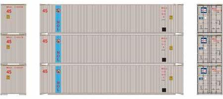 ATHEARN #27032 - HO - 45' Containers - Mitsui Overseas Line - 3-Pack - [RESERVE for Delivery in January 2020] - [$0 to Reserve - US$31.43 on Delivery] - [*** 19-033]
