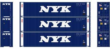 ATHEARN #27033 - HO - 45' Containers - NYK - 3-Pack - [RESERVE for Delivery in January 2020] - [$0 to Reserve - US$31.43 on Delivery] - [*** 19-033]