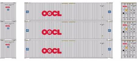 ATHEARN #27036 - HO - 45' Containers - OOCL - 3-Pack - [RESERVE for Delivery in January 2020] - [$0 to Reserve - US$31.43 on Delivery] - [*** 19-033]