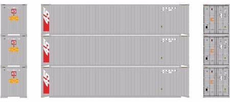 ATHEARN #27037 - HO - 45' Containers - Sealand - 3-Pack - [RESERVE for Delivery in January 2020] - [$0 to Reserve - US$31.43 on Delivery] - [*** 19-033]