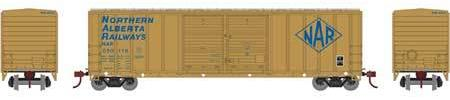 ATHEARN #27197 - 50' FMC Double-Door Box Car - Northern Alberta Railway - #NAR 050163 - [RESERVE for Delivery in May 2019] - [$0 to Reserve -$42.95 on Delivery] [Only 1 left]