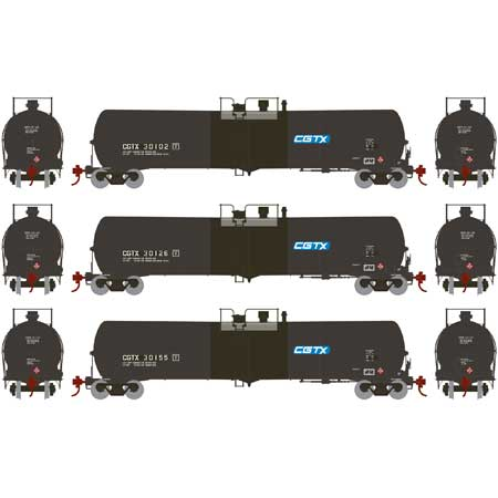 ATHEARN #28253 - 30,000 Gallon Ethanol Tank Car - Rail Canada - 3-Pack #2 - [RESERVE for Delivery in December 2018] - [$0 to Reserve -$155.95 on Delivery]