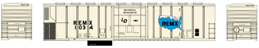 ATHEARN #71147 - PC&F 57' Mechanical Reefer - REMX Corporation- #REMX 1034 - [RESERVE for Delivery in September 2019] - [$0 to Reserve - US$29.98 on Delivery]