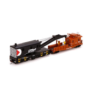 ATHEARN #7525 - HO - 200-Ton Crane and Tender - CPRail - [IN STOCK]