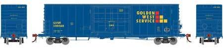 ATHEARN GENESIS #G69377 - PC&F 50' SS Box Car with 14' Plug Doors  - Golden West Service - #GVSR 136081 - [Click on the picture for more information] [RESERVE for Delivery in August 2019] - [$0 to Reserve -$51.95 on Delivery]