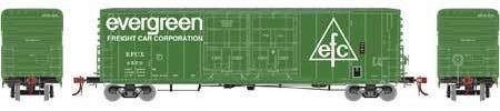 ATHEARN GENESIS #G87970 - PC&F 50' Plug Door Box Car with 8' Doors  - Evergreen - #EFCX 3688 - [IN STOCK]