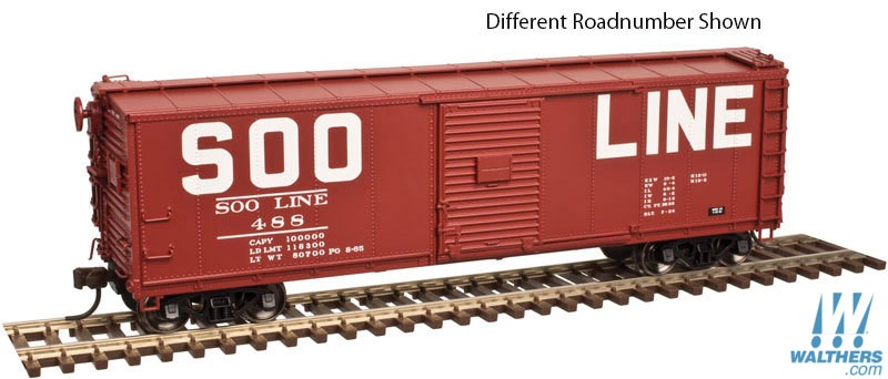 ATLAS #20 004 350 - USRA Steel Rebuilt Box Car - SOO Line #488 - [IN STOCK]