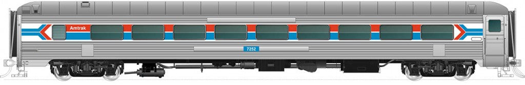 RAPIDO TRAINS #17147 - HO-Scale - 72-Seat Coach - Amtrak #7257 - [IN STOCK]