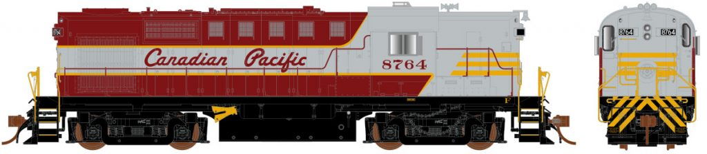 RAPIDO TRAINS #32030 - HO - MLW RS-18 - DRS-18b Class - HO-Scale - Canadian Pacific #8762 - DCC-Ready - [RESERVE for Delivery in Mid-2019] - [$0 to Reserve - CAD $249.95 on Delivery - Reservations are closed at Rapido - No discount]