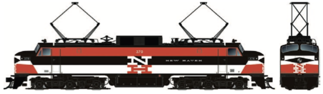 RAPIDO TRAINS #084501 - HO - EP-5 - New Haven #370 - DCC & Sound - [RESERVE for Delivery in December 2019] - [$0 to Reserve - $459.95 CAD on Delivery] [*** 19-043]