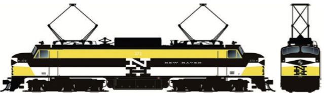 RAPIDO TRAINS #084515 - HO - EP-5 - New Haven #372 - DCC & Sound - [RESERVE for Delivery in December 2019] - [$0 to Reserve - $459.95 CAD on Delivery] [*** 19-043]