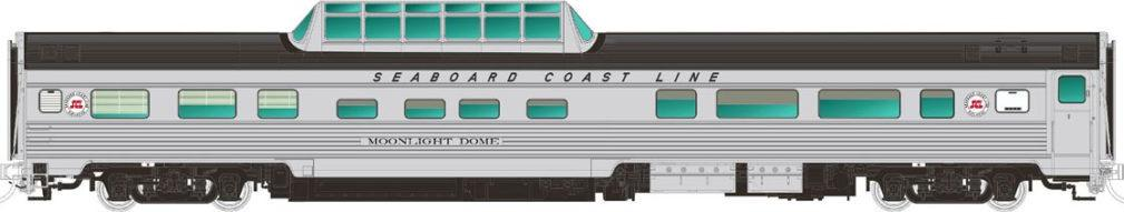 *RAPIDO TRAINS #116031 - Mid-Train Dome - Seaboard - Moonlight - [IN STOCK]
